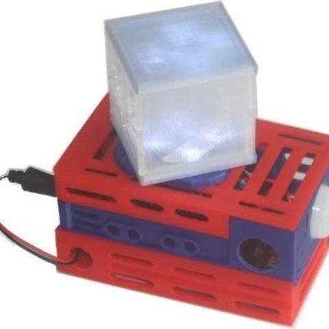 bbNightLight_mon_display_large.jpg Télécharger fichier STL gratuit badBrick - Lumière nocturne à détection de mouvement, kit complet de coque 3D. • Plan à imprimer en 3D, Lassaalk