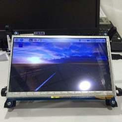"""Descargar archivos STL gratis """"Montaje del monitor LCD de 7, Lassaalk"""