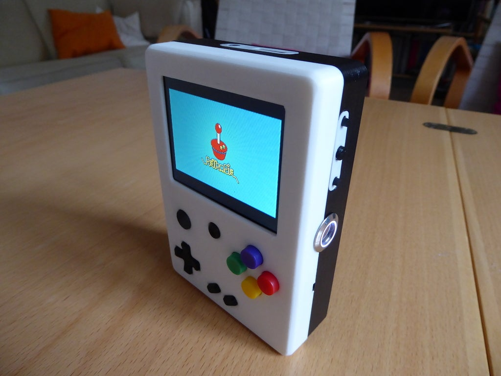 P1010998_display_large.JPG Download free STL file Portable Raspberry Pi game console • 3D printing object, Lassaalk
