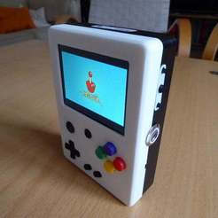 Download free 3D printer designs Portable Raspberry Pi game console, Lassaalk