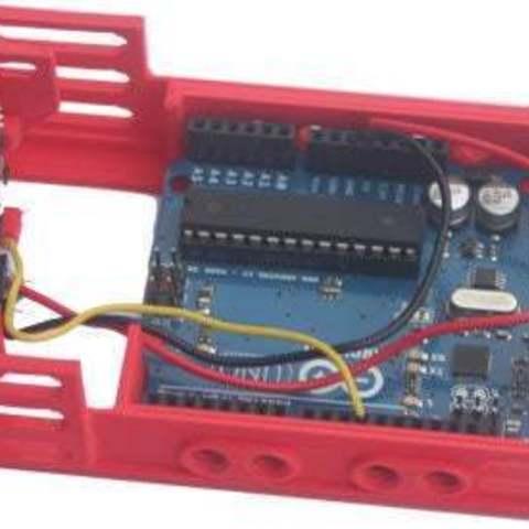 Download free 3D printer templates badBrick - bbBBAUR3PLXPIRBase, PLX PIR + Arduino Base Case, Lassaalk