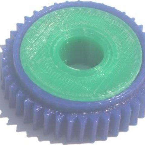 Télécharger STL gratuit badBrick - 40 Roulement d'engrenage à dents, Lassaalk