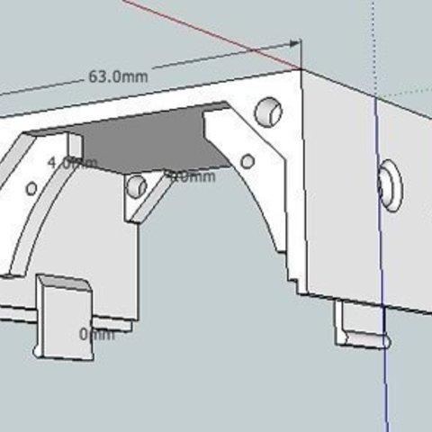 "bbVFR2iSB_top_display_large.jpg Download free STL file badBrick - Speaker Case for Vifa TC6FD00-04 2"" Woofer • 3D printable template, Lassaalk"