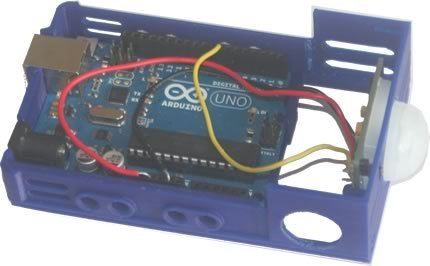 bbBasePLXPIR_mnt_display_large.jpg Télécharger fichier STL gratuit badBrick - bbBasePLXPIR, capteur Parallax PIR (Rev B) + cas de base Arduino UNO R3. • Plan imprimable en 3D, Lassaalk