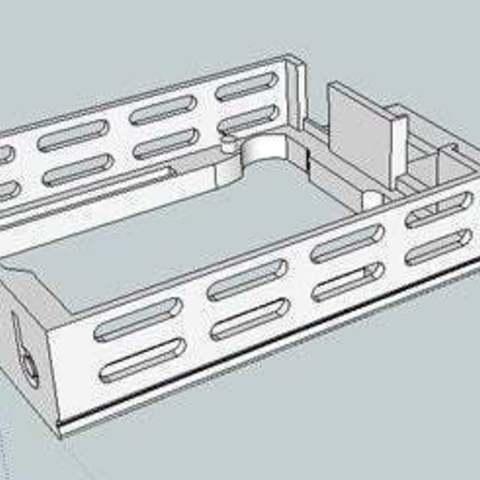 bb39vBPack_skt_display_large.jpg Download free STL file badBrick - (3) 9 Volt Battery Case and top for Arduino UNO R3. • 3D printing template, Lassaalk