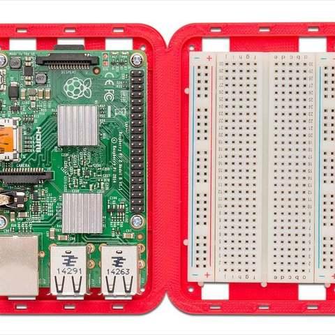 red_pi-brdbd-com_display_large.jpg Download free STL file Modular Support (Case) for Arduino and Raspberry Pi - CustoBlocks • 3D print template, Lassaalk