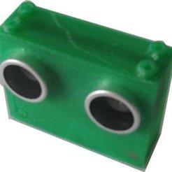 Télécharger fichier imprimante 3D gratuit badBrick HC-SR04 Capteur pour montage en brique., Lassaalk