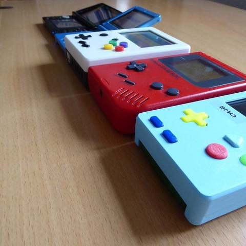P1010995_display_large.JPG Download free STL file Portable Raspberry Pi game console • 3D printing object, Lassaalk