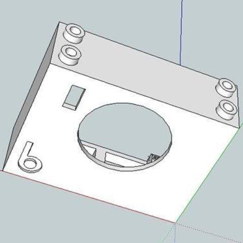 bb624PIRPLX_skp_display_large.jpg Télécharger fichier STL gratuit badBrick bb624PIRPLX Parallax PIR Sensor Brick Mount. • Design à imprimer en 3D, Lassaalk