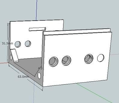 "bbVFR2iSB_bot_display_large.jpg Download free STL file badBrick - Speaker Case for Vifa TC6FD00-04 2"" Woofer • 3D printable template, Lassaalk"