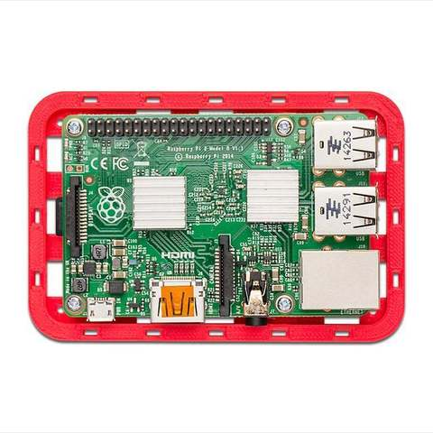 red_pi-com_display_large.jpg Download free STL file Modular Support (Case) for Arduino and Raspberry Pi - CustoBlocks • 3D print template, Lassaalk