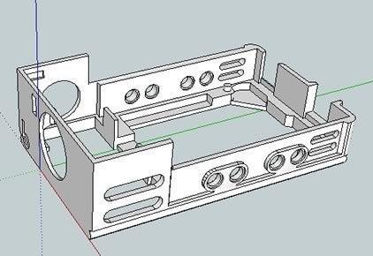 bbBasePLXPIR_skp_display_large.jpg Télécharger fichier STL gratuit badBrick - bbBasePLXPIR, capteur Parallax PIR (Rev B) + cas de base Arduino UNO R3. • Plan imprimable en 3D, Lassaalk