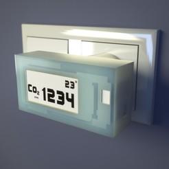 CO2-16.jpg Télécharger fichier OBJ gratuit Boîtier PiTs pour la mesure du Co2 et des particules • Plan pour impression 3D, TIME