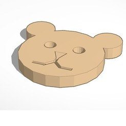 Download free 3D printer model Teddy Bear Button, kleveroa2009