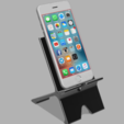 Download free 3D printing designs Phone Stand with Cable Routing, mikedelcastillo