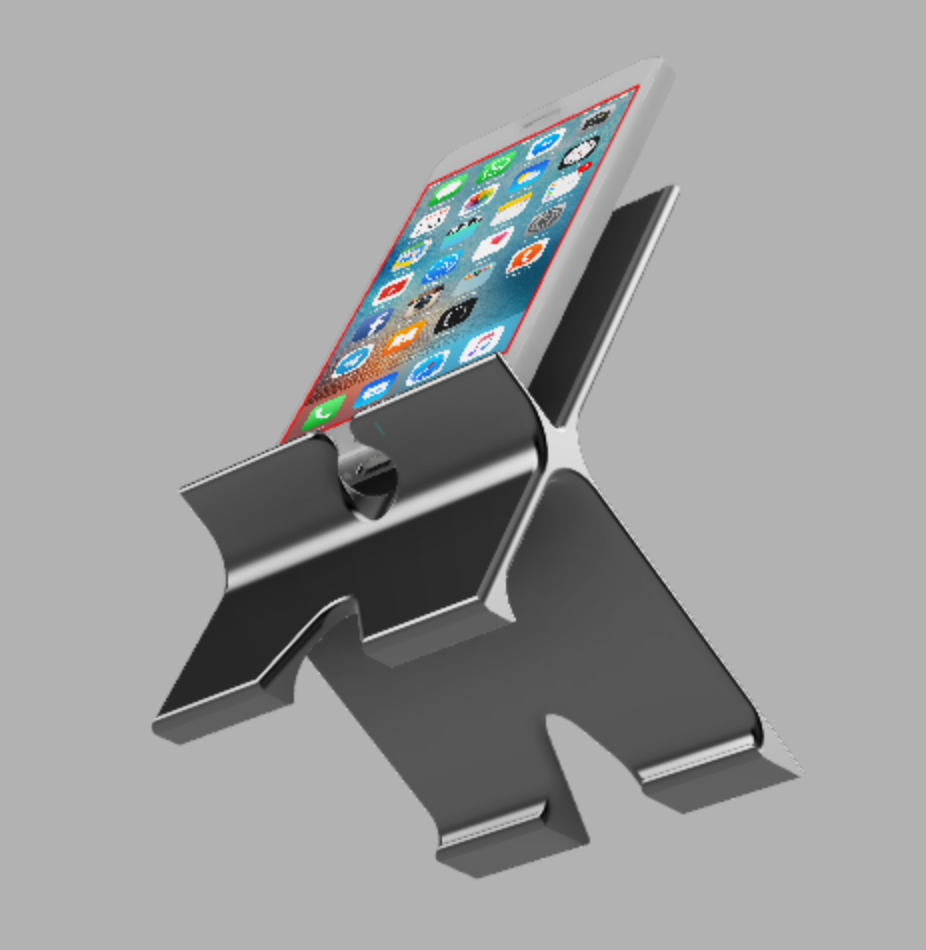 Screen Shot 2019-07-20 at 5.11.51 PM.png Download free STL file Phone Stand with Cable Routing • Object to 3D print, mikedelcastillo