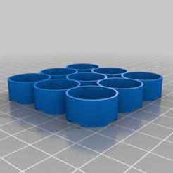 Download free STL file 18650 9 cell battery bank holder • 3D printer design, webot