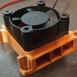 Download free 3D printer files 30 mm fan adaptor to replace turbo fan for anycubic delta, webot