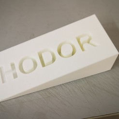 Download free STL files HODOR DOOR STOP - GAME OF THRONES, haitham_kob