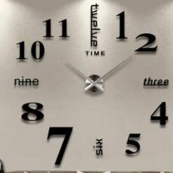 130587687_398851601437889_7475021584349198640_n.jpg Download STL file Giant wall watch • 3D print template, Vlada1233