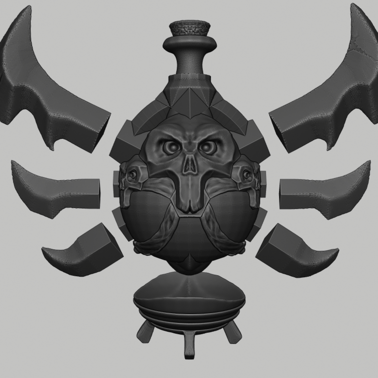 potion 6.png Download STL file Wow Poison Potion • 3D printer design, DFB93