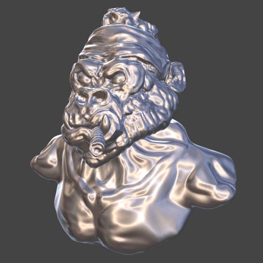 Ape Bust 2.png Download free STL file Gang Gorilla Free 3D print model • 3D printer design, DFB93