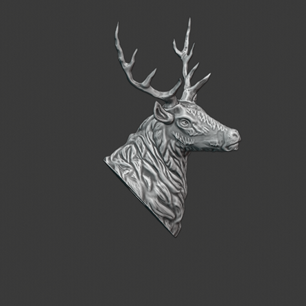 stag 5.png Download free STL file Stag Trophy • 3D printing object, DFB93