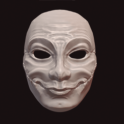 Happy Halloween.png Télécharger fichier STL Masque d'Halloween • Design imprimable en 3D, DFB93