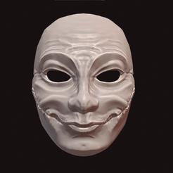 Happy Halloween.png Download STL file Happy Halloween Mask • 3D printer model, DFB93