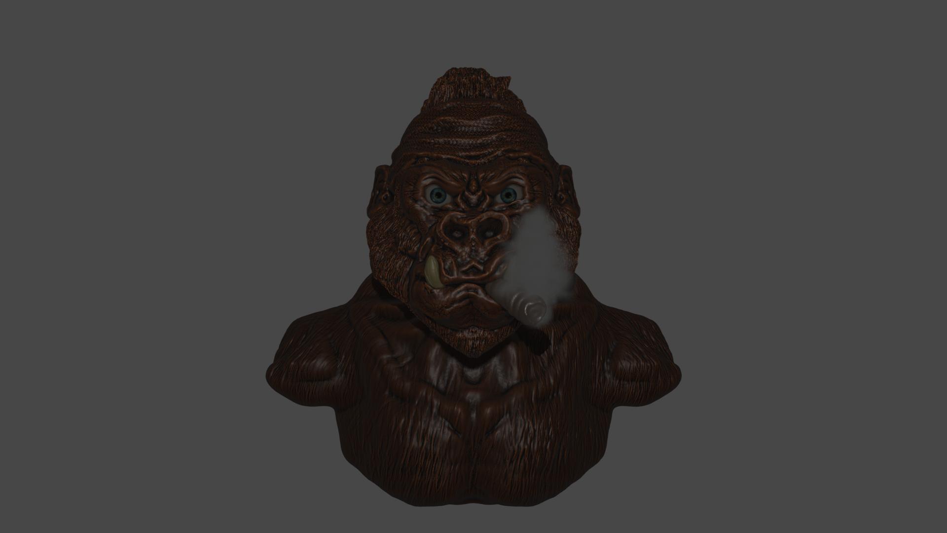 Ape Render v3.png Download free STL file Gang Gorilla Free 3D print model • 3D printer design, DFB93