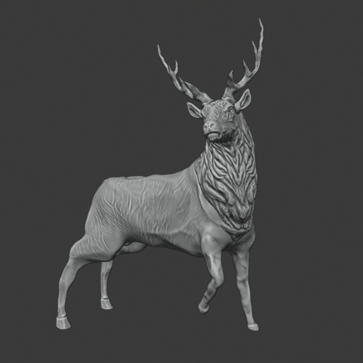 stag 1.png Download free STL file Stag Trophy • 3D printing object, DFB93