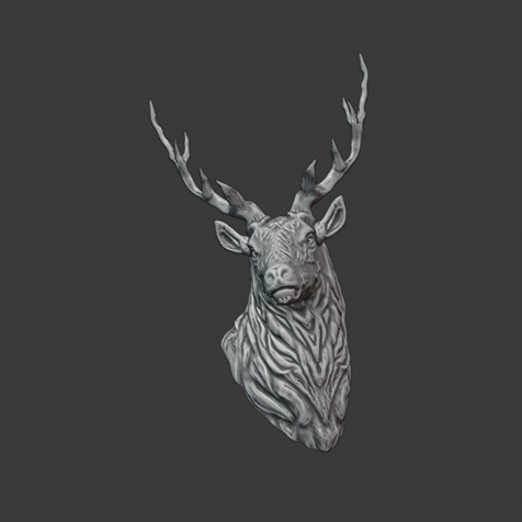 stag 4.png Download free STL file Stag Trophy • 3D printing object, DFB93