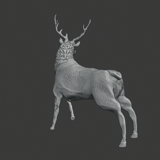 stag 3.png Download free STL file Stag Trophy • 3D printing object, DFB93