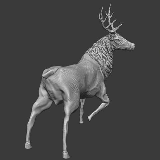 stag 2.png Download free STL file Stag Trophy • 3D printing object, DFB93