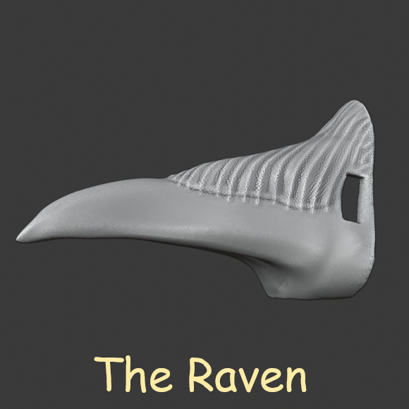 Untitled 5.png Download free STL file Halloween Animal Nose Pack! • 3D printable object, DFB93