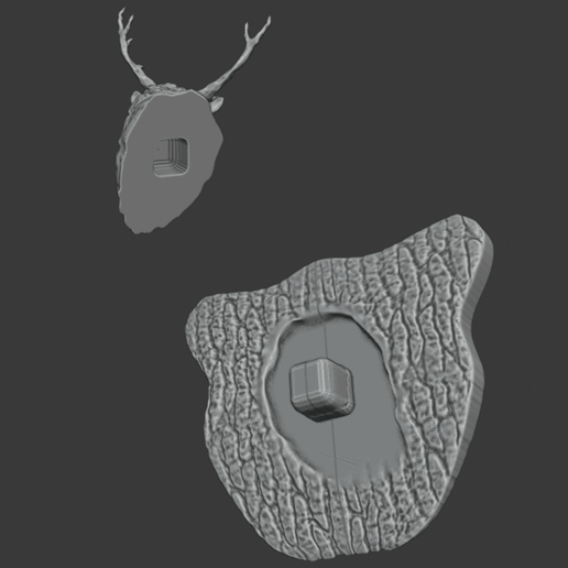 stag 6.png Download free STL file Stag Trophy • 3D printing object, DFB93