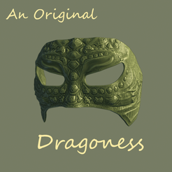 Download free STL files Dragoness Mask Original, DFB93