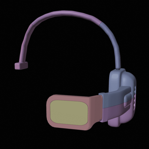 scouter 2.png Download free STL file DragonBall Z Scouter • 3D printing object, DFB93