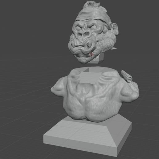 Screenshot (154).png Download free STL file Gang Gorilla Free 3D print model • 3D printer design, DFB93
