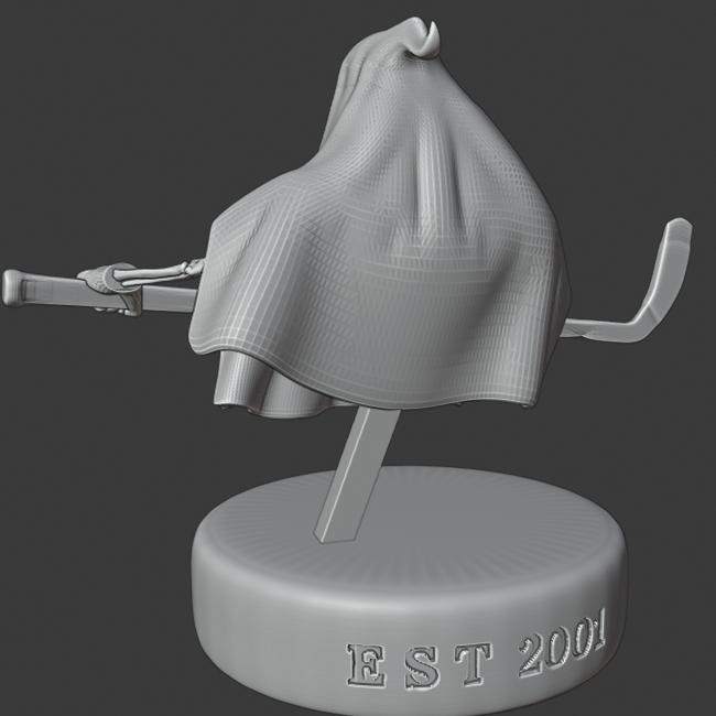 progress 1.png Télécharger fichier STL gratuit Hockey Fantôme • Design pour imprimante 3D, DFB93