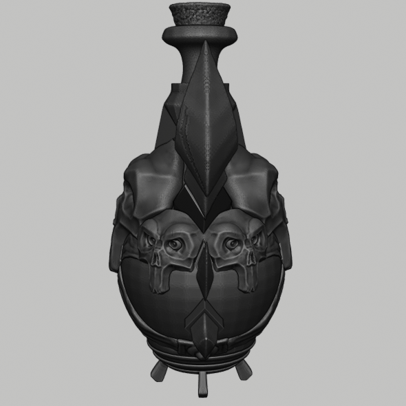 potion 5.png Download STL file Wow Poison Potion • 3D printer design, DFB93
