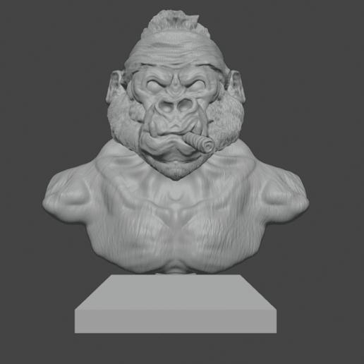 gorilla 1.png Download free STL file Gang Gorilla Free 3D print model • 3D printer design, DFB93