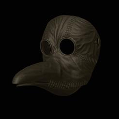 Leather Plauge Doc.png Download STL file Leather Plague Doctor Mask • 3D printer design, DFB93