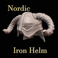 Download free 3D printer templates Dovahkiin Nordic Helm Skyrim, DFB93
