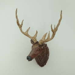 stag 11.png Download free STL file Stag Trophy • 3D printing object, DFB93