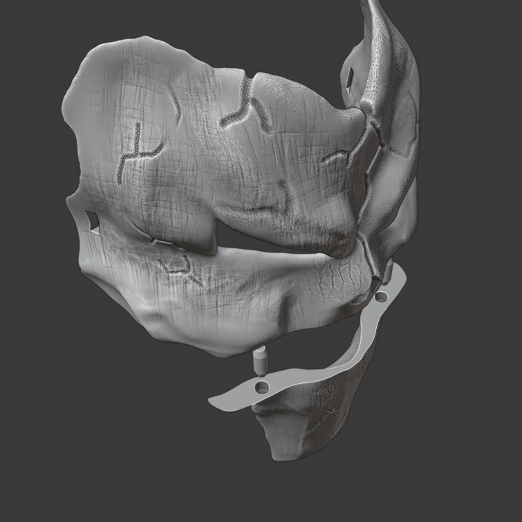 deaths mask 6.png Download free STL file Deaths Mask Darksiders The Executioner • 3D printable template, DFB93
