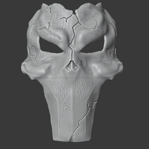 deaths mask 3.png Download free STL file Deaths Mask Darksiders The Executioner • 3D printable template, DFB93