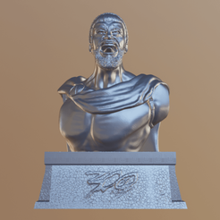 Download free STL files King Leonidas: Gerard Butler Bust, DFB93