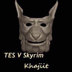 Imprimir en 3D Máscara Khajiit Masculina, DFB93