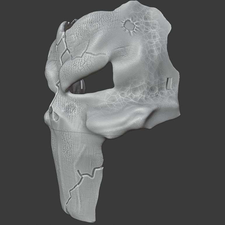 deaths mask 1.png Download free STL file Deaths Mask Darksiders The Executioner • 3D printable template, DFB93